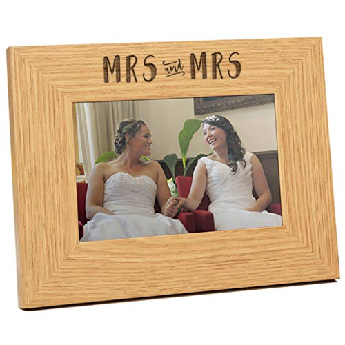 Mrs & Mrs Engraved Frame