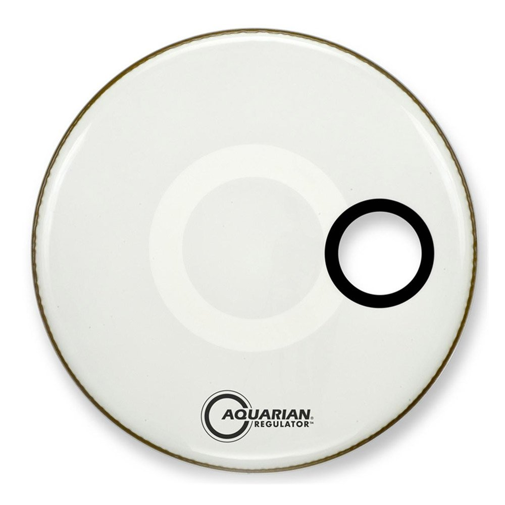Aquarian RSM22WH Drumheads Regulator White 22-Inch Bass Drum Head, Gloss White Aquarian Drumheads