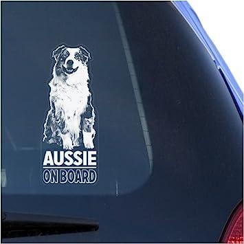 Aussie Klar Aufkleber Aufkleber Für Fenster Australian Shepherd Hundeschild Kunstdruck Auto