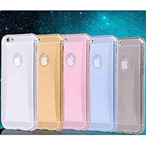 LCJ Shiny Powder Slender Diamond Lines TPU Soft Case for iPhone 6 Plus 5.5 Inch (Assorted Colors) , White