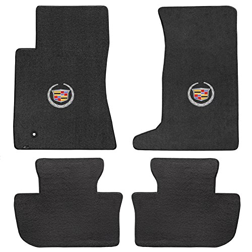 Cadillac CTS AWD Coupe 4 Piece Lloyd Mats Velourtex Ebony Carpet Floor Mats w/Cadillac Logo (Cadillac Cts Awd)
