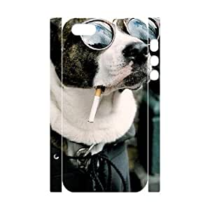 3D Naza Dog & Cute IPhone 5,5S Cases Coold Dog Unique for Guys, Case for Iphone 5s for Men Unique for Guys [White]