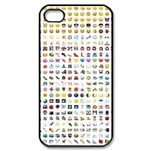 Wlicke emoji Custom Durable Iphone 4,4g,4s Case, New Fashion Protective Cove Case for Iphone 4,4g,4s with emoji