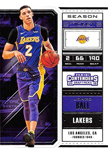 Basketball NBA 2018-19 Panini Contenders Draft Picks Season Ticket #42 Lonzo Ball #42 NM+ Lakers