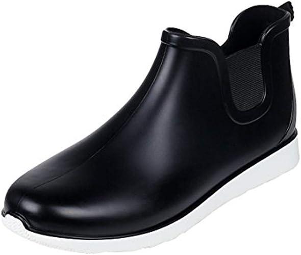 Comwarm Men Waterproof Snow Rain Boots Anti-Slip PVC Black Adult Outdoor Work Rubber Boots