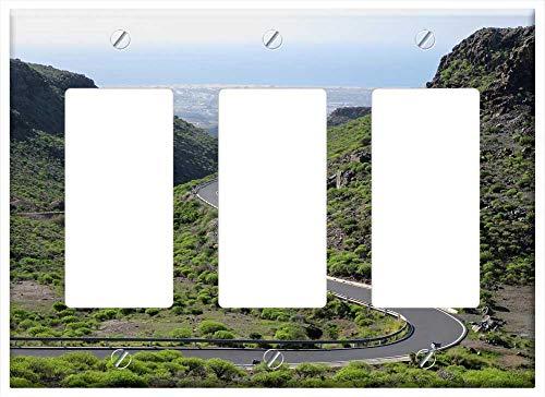 Gran Canaria Light Three - Switch Plate Triple Rocker/GFCI - Road Mountain Sky Maspalomas Gran-Canaria