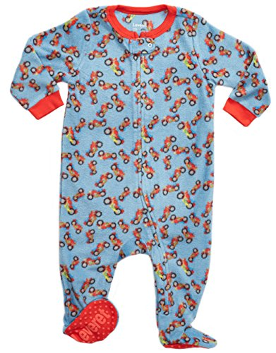 0a60c506ecbe Galleon - Leveret Kids Fleece Baby Boys Footed Pajamas Sleeper 100 ...