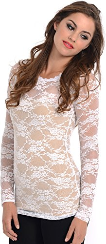 Sheer Lace Long Sleeve Top product image