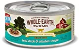 Whole Earth Farms Grain Free Real Morsels In Gravy Duck & Chicken Wet Cat Food, 5 Oz, Case Of 24
