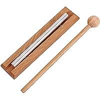 Campana de meditación Alnicov Solo Chime con mazo Instrumento de percusión para oración Yoga Energías Orientales…