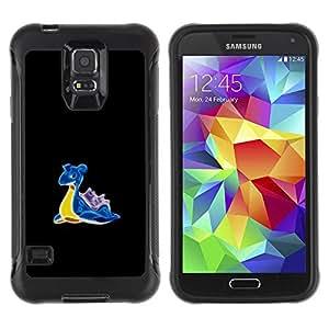 ZAKO CASES / Samsung Galaxy S5 SM-G900 / P0Kemon Totodile / Robusto Prueba de choques Caso Billetera cubierta Shell Armor Funda Case Cover Slim Armor
