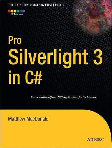Pro Silverlight 3 In C Experts Voice Amazonin Matthew MacDonald Books