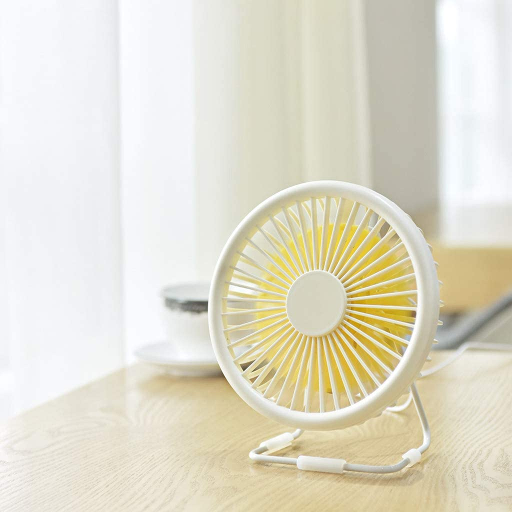 White Desktop USB Fan 5 Blades Cooler Cooling Mini Fan Computer Operation Super Mute Silent By Junlai