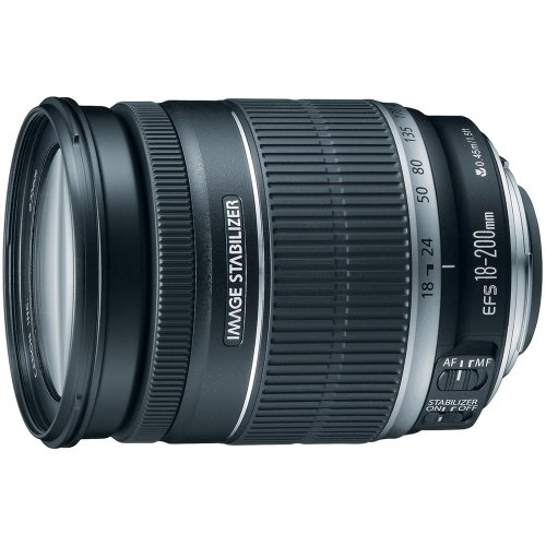 Canon EF-S 18-200mm f/3.5-5.6 IS Standard Zoom Lens for Canon DSLR Cameras (Best Price On Canon Eos Rebel T3i)