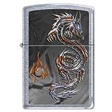 "Zippo ""Dragon and Flames"" Street Chrome Lighter"