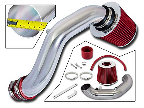 Rtunes Racing Short Ram Air Intake Kit + Filter Combo RED For 02-06 Acura RSX Non Type S