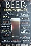 Lan Beer Sign RetroTin Sign,Vintage Metal Sign,Bar Pub Poster 8x12 Inches