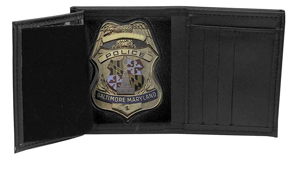 Baltimore Police Recessed Badge Wallet (Cutout PF135, 3.35 inches tall)