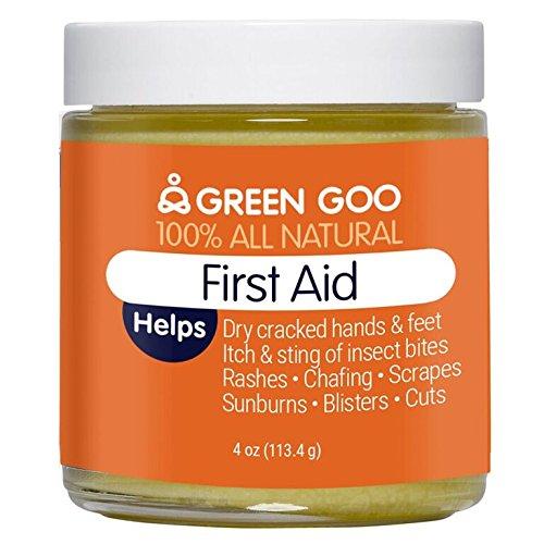 Green Goo All-Natural Skin Care, First Aid, Jar, 4 Ounce (First Organic Aid)
