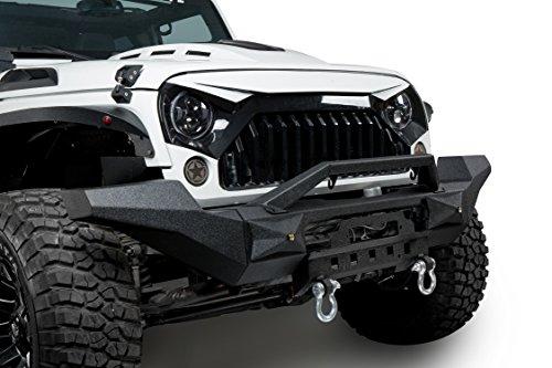 Amazon.com: U Box 2007 2018 Jeep JK TRANSFORMER Front Bumper W/Winch Plate  U0026 LED Working Lights Changeable Style For Jeep Wrangler U0026 Wrangler Unlimited:  ...