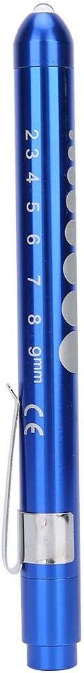 Linterna LED Lámpara de diagnóstico portátil profesional Pluma clínica Examen oftálmico Control de pupila Luz de pluma para médico Enfermera(Azul)
