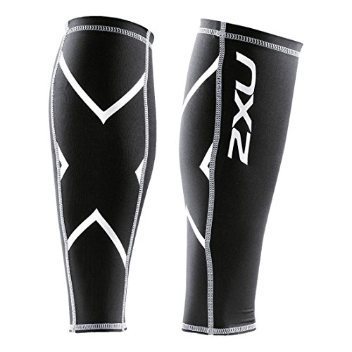 2XU Compression Calf Guards, Black/Black, XX-Large