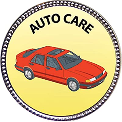 Keepsake Awards Auto Care Award, 1 inch Dia Silver Pin Special Knowledge Collection: Toys & Games