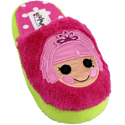 Lalaloopsy Girls Scuff Slippers LLSCUFF (9/10, Pink/Lime)