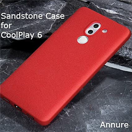 online retailer 51bc3 5b66e Annure Coolpad Cool Play 6 CoolPlay 6 Back Cover Case Sandstone Touch  Premium Quality [ Red ]