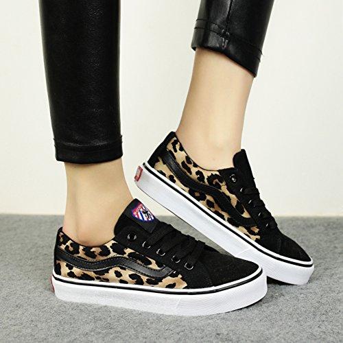 C estudiantes a femeninos los ocasionales lona Los zapatos planos zapatos bajos ayudar femeninos zapatos de qC6gp