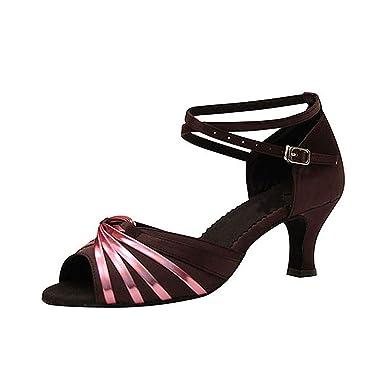e9990e02aa5 LL Aux femmes Satin Chaussures de danse latine Antidérapant Respirant Fond  mou Chaussures danse