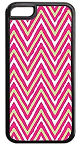 Ikat Chevron- Case for the APPLE IPHONE 5, 5s-NOT THE 5s for you!!!-Hard Black Plastic Outer Case with Tough Black Rubber Lining