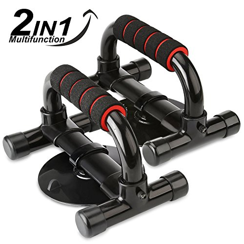 HiHiLL Push Up Bars, 2 in 1 Push Up and Sit up ...