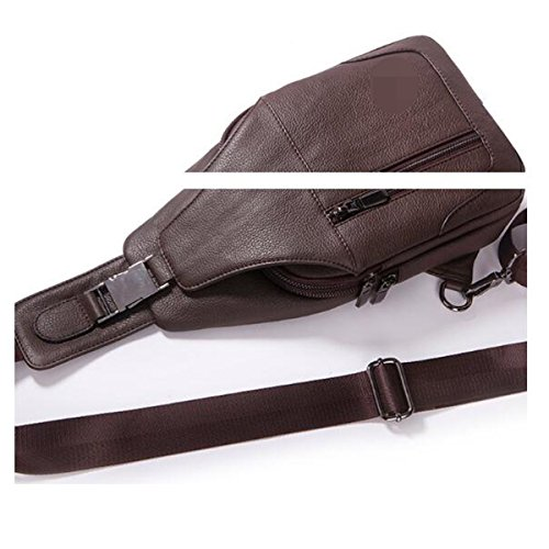 Unisex Clásico Salvaje Conveniente Viaje Sling Mochila Crossbody Chest Pack Crossover Bolsas Marrón Brown