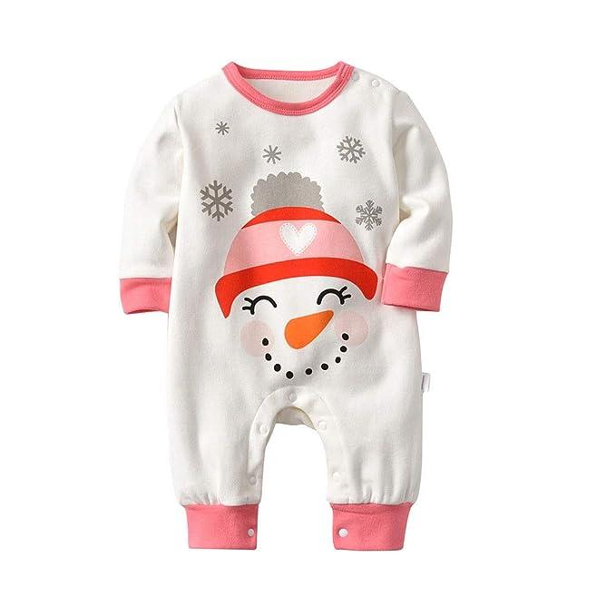 Ansemen Mono de Muñeco de Nieve para Niños - Pijama Infantil para Niños Pijamas de Algodón