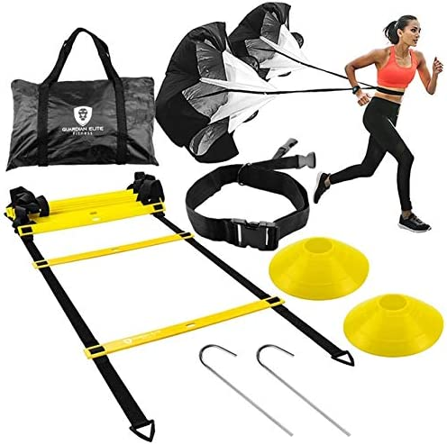 Guardian-Elite Fitness Agility Ladder Speed Training Equipment Set