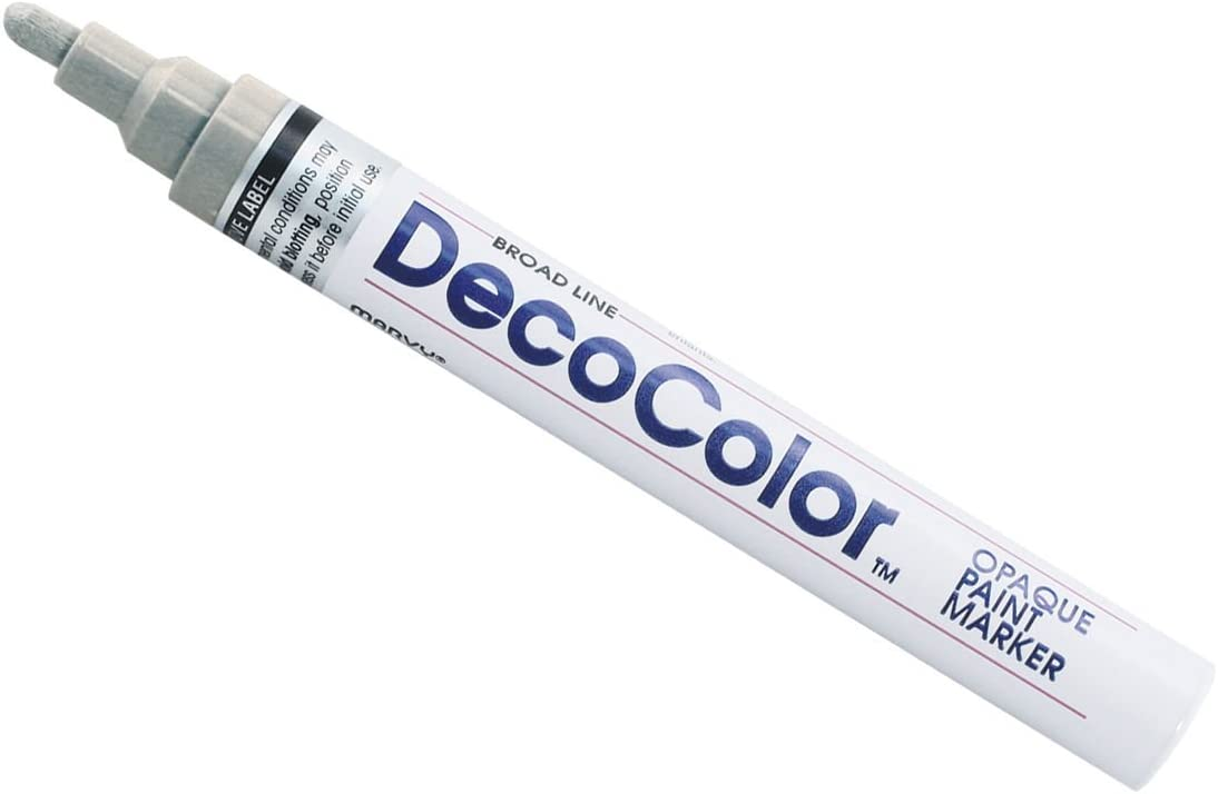 Black DecoColor Glossy Oil Base Broad Point Paint Marker Opaque