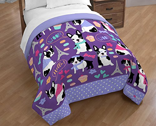 Limited Too French Bulldog Reversible Full/Queen - Comforter Bulldogs Queen