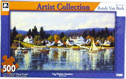 Artist Collection: The Art of Randy Van Beck~ Gig Harbor Summer ~ 500 Piece - Harbor International
