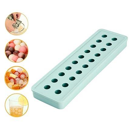 Aolvo Bandeja de cubitos de hielo comercial, para casa y cocina, mini bandejas de