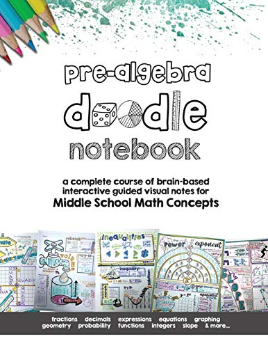 Pre Algebra Doodle Notes: a complete course of brain-based interactive guided visual notes for Middle School Math…