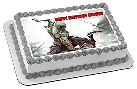 Amazon.com: Assassins Creed Edible Cupcake Toppers - 1.8
