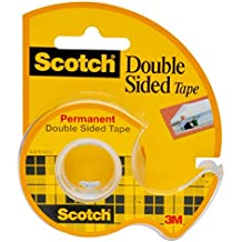 Scotch Double Sided Long-Lasting Tape with Dispenser, Permanent, 3/4 x 300 Inches (237)