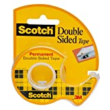 Office Products : Scotch Brand Double Sided Tape with Dispenser, Standard Width, 3/4 x 300 Inches (237)