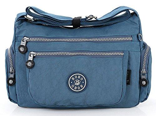 tissu Poches GFM sac Style Corps en Sac léger pour 2 multiples Blue bandoulière à 32JNNL Sac Jeans femme de Croix Messenger xrrnqXaEw