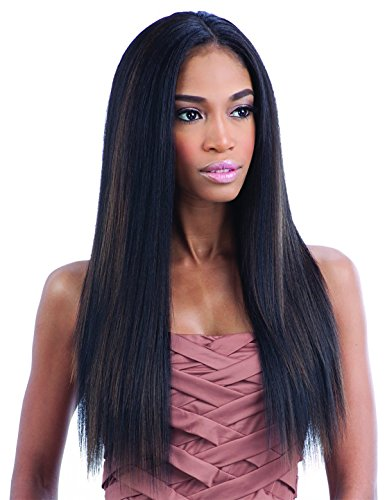 Baisi Pre-Plucked Straight 360 Lace Wig 150% Density Natural Color Full Lace Band Virgin Human Hair Wigs For Black Women with Baby Hair (18inch) by Baisi