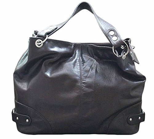 11sunshop BAG-GLADI - Bolso de asas para mujer Marrón marrón M
