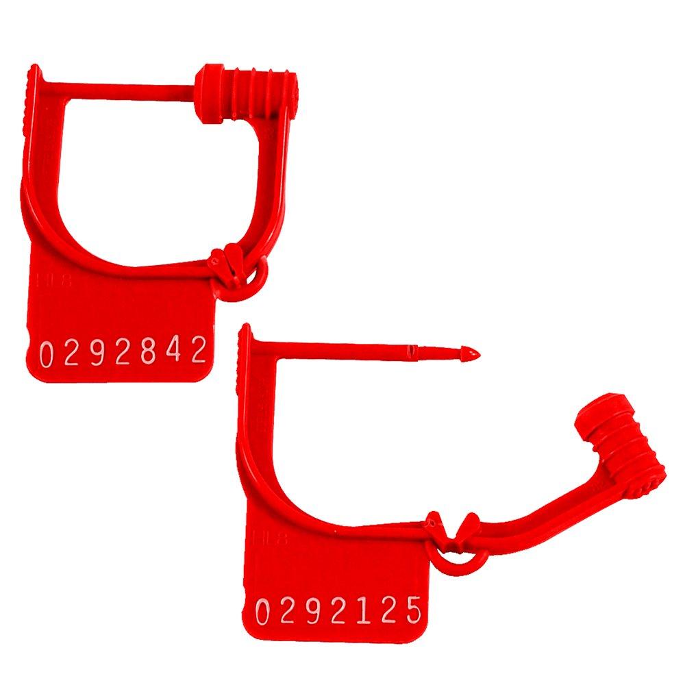 Aviditi SE1021''Handilok HL-8'' Seals, Red (Pack of 1000)