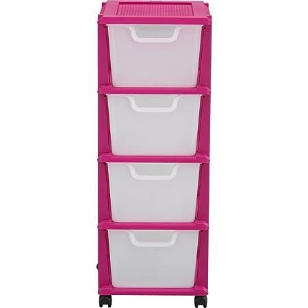 Drawer Plastic Storage Tower Pink