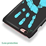 """KOSBON Thermal Sensor Phone Case Heat Induction Color Changing Holster Ultra-thin Hard PC Anti-scratch Cover Protective Shell for for IPhone (Black to Blue, For iPhone 6/6s 4.7"""")"""